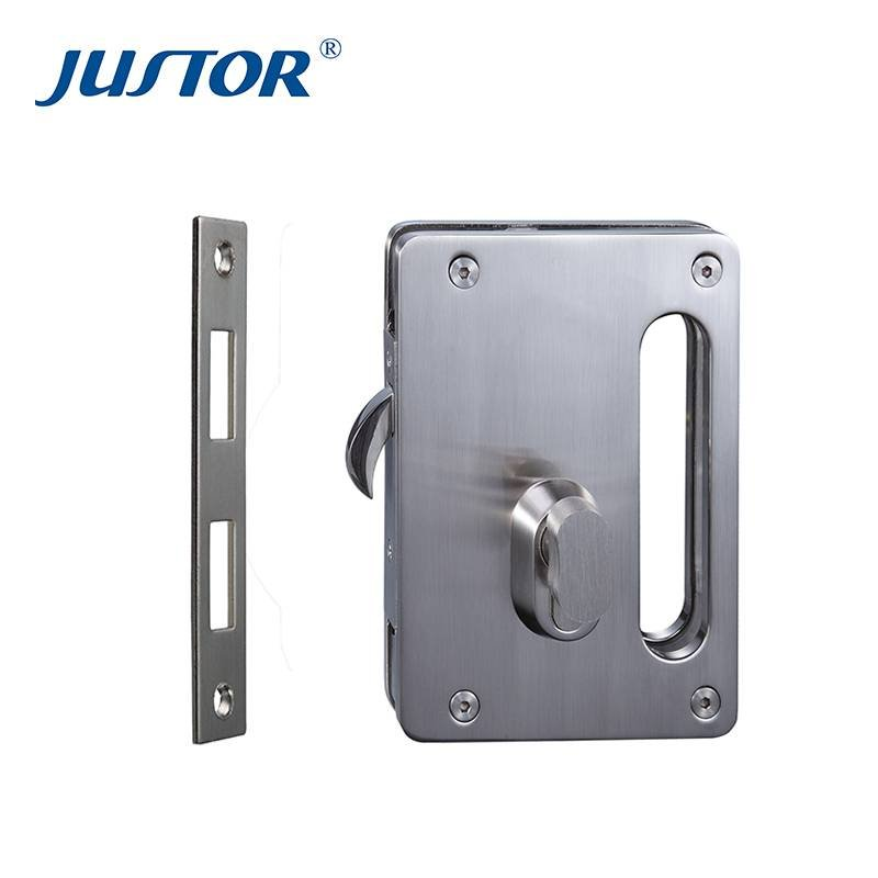 Ju W515 High Quality Glass Door Lock Aluminum Sliding Hardware
