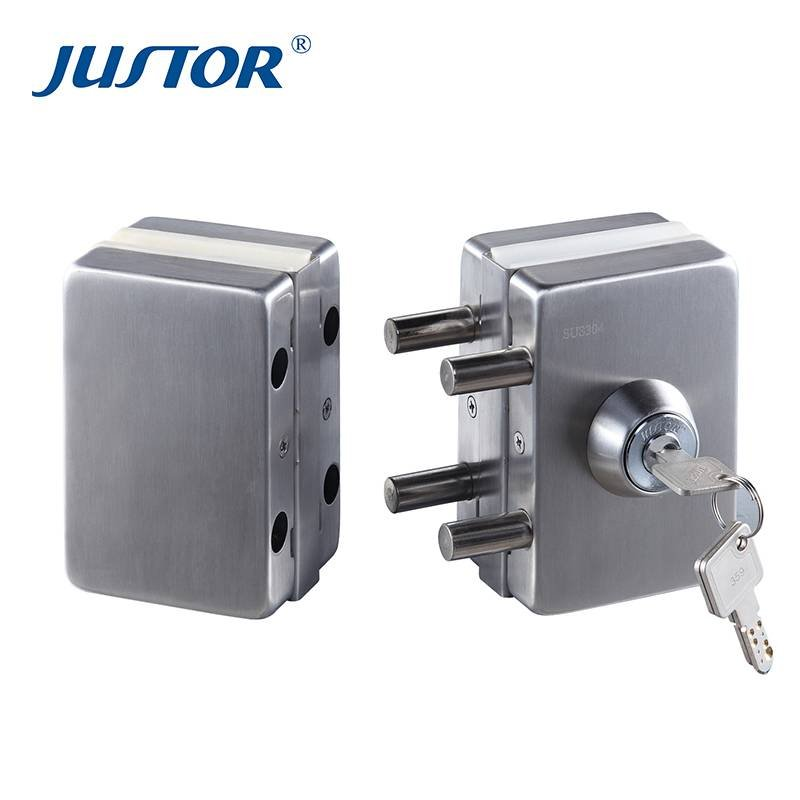 Ju W512 Frameless Glass Door Lock Double Side Key